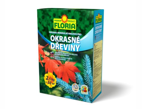 Organo-minerální hnojivo pro okrasné dřeviny